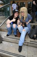 Wayne and Garth Cosplay by BlueBlasta