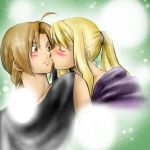 .::FMA: Winry Ed color kiss::. by elmyky