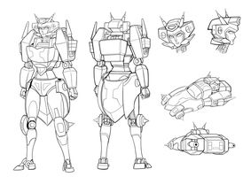 Elita-1 redesign lineart by lucycat410