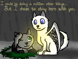 I could be doing a million other things... by MysticalWhisper