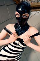 Zebra girl caught and restrained, part 1 of 3 by ropemarks