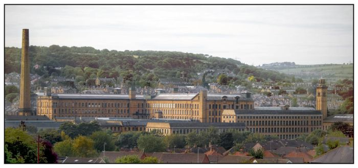 Salts Mill from Baildon Green by gerarduk62