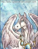 Digital Watercolor Pegasus by lady-cybercat