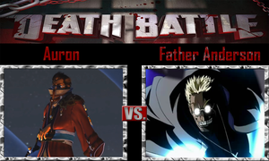 Auron vs Father Anderson by SonicPal
