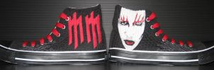 trampki.6: Marilyn Manson FOR SALE by psoty