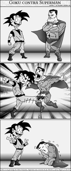 Superman versus Goku by jomra