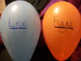 Fuyu and Lex ballons??? by FawkYewImaCosplayer