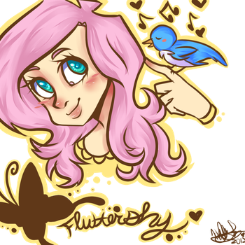 Fluttershy by BlackNothingness