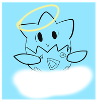 Our Lord and Savior, Lucky the Togepi by DaktheNephilim