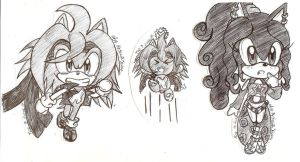 Chibi!! done in pen by SONICJENNY