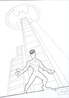 Nightwing : Rooftop by tyrannus