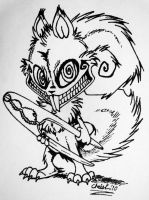 Psychotic Squirrel No. 2 by TickleMeHoHo