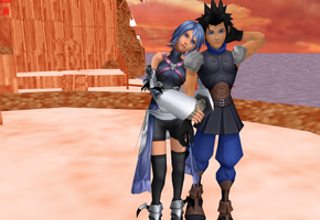 Zack and Aqua Island by ShadowRoseVIII