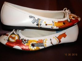 Hand Painted Steampunk Shoes by Oriana-X-Myst