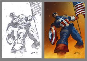 Captain America by 9999DamagePoints