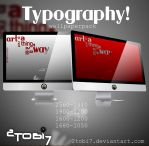 'typography' - wallpaperpack by 2tobi7