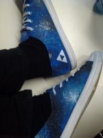 Galaxy Shoes DIY (with little triforce :3) by Yitty