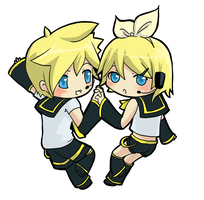 Vocaloids twins by daitoshi