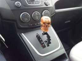 Cherry Skull Shifter Knob redux - installed by jbensch