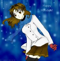 winter Maron -- happy holidays by jannu