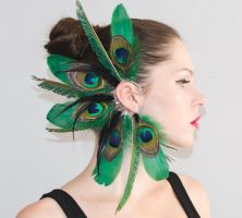 Ear Cuff - Emerald Fairy tale by chop-chop