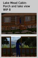 Lake Mead Cabin- Porch and lake view- WIP 8 by mdbruffy