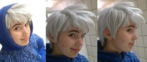Jack Frost cosplay - wig WIP by 77Flower77