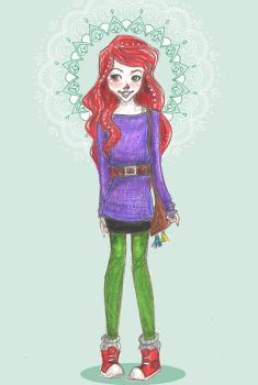 Hipster Ariel by mox-ie
