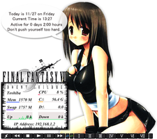 Tifa Lockhart Rainmeter by Kaza-SOU