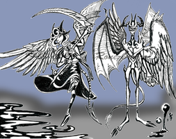 Daemngelos (Demon Angel characters) by Rone-Ombre