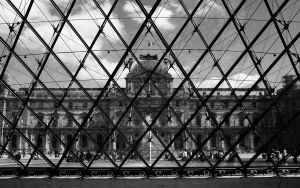 Louvre from the Pyramide by rtraverso86