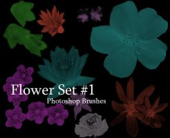 Floral photoshop brushes 1 by redhead850