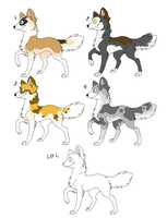 nature wolf adoptables CLOSED by zcherozrodesidz
