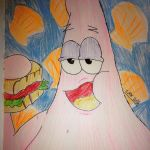 Patrick eating Krabby Patty by Africa2000