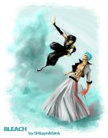 Grimmjow and SoiFong by SINKandSHTAYN