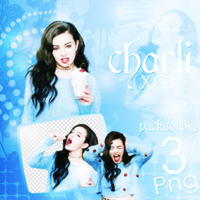 PNG PACK (83) Charli XCX by DenizBas