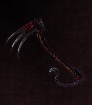 Demon Lords War Scythe by ShadowDragon22