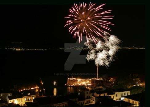 fireworks nafpaktos 1 by AndreasStavropoulos