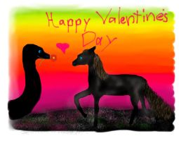 DragonSnake with Horse Happy Valentines Day! by Emily183