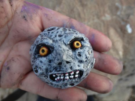 Majora's Mask Moon by meanlilkitty