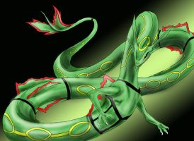 realistic rayquaza by quinnk