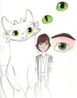 Hiccup and Toothless by ArtsieBandNerd