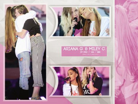 Photopack 4174: Ariana Grande and Miley Cyrus by PerfectPhotopacksHQ