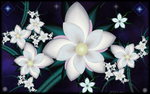 Bright White Blooms by JCCJ756