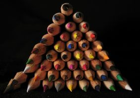 Tower of Pencils by ausrejurke