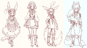 FANTASY ADOPT BATCH 2 preview (EDIT + NEW DESIGN) by Kaiet