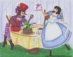 Collab-Girls in Wonderland-Misatsukuki-Paty-Lo by HoshiBlue21
