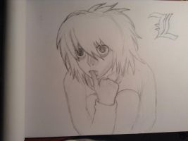WIP L from Death Note by fictionaloutcomes