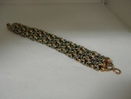 steampunk chainmail braclet by gokusonwing0