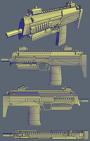 MP7 Low Poly by Raptor5399